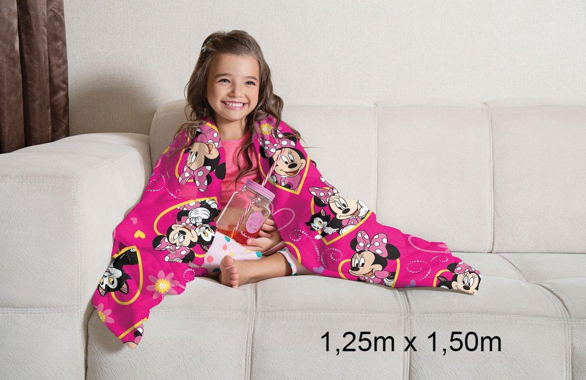 Manta de Sofá Minnie Fleece Super Soft 1,25X1,50m Lepper