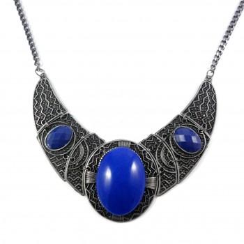 Maxi Colar Blue Iris