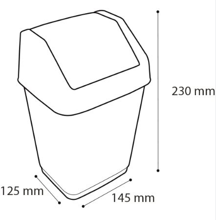 Mini Lixeira para Mesa Escritório Basculada 2L Arqplast