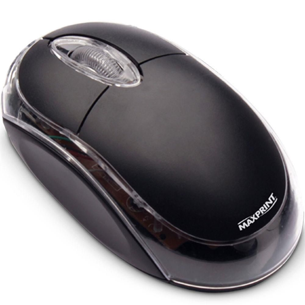 Mouse Ótico PS-2 Preto 60614-2 Maxprint