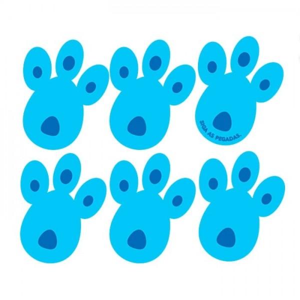 Pegadas Coelhinho da Páscoa EVA Azul com 6 unit Piffer
