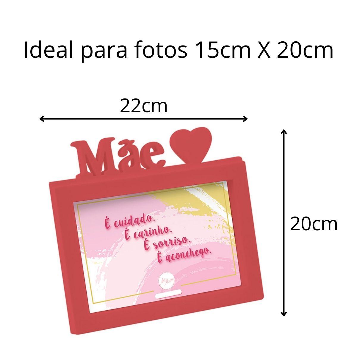 Presente Dia das Mães Kit Anel Filho Dourado Porta Retrato
