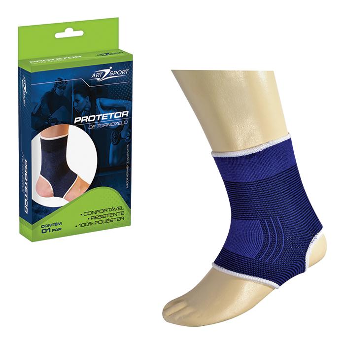 Protetor de Tornozelo Azul 01 Par Art Sport