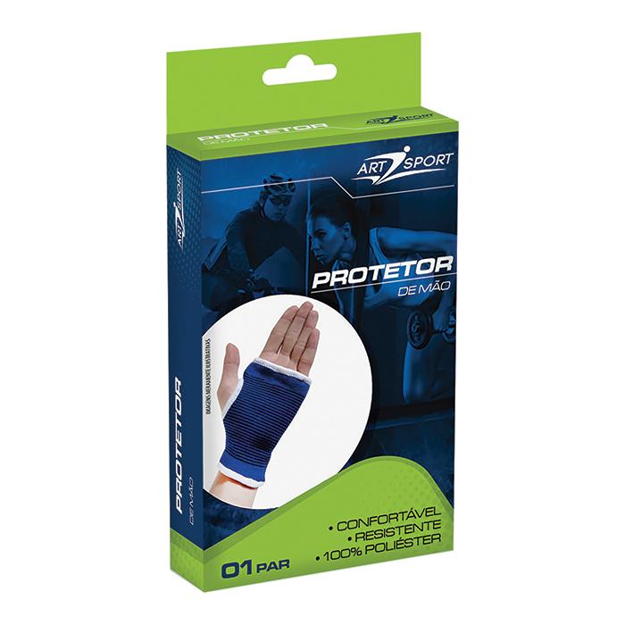 Protetor para Mão Azul 01 Par Art Sport