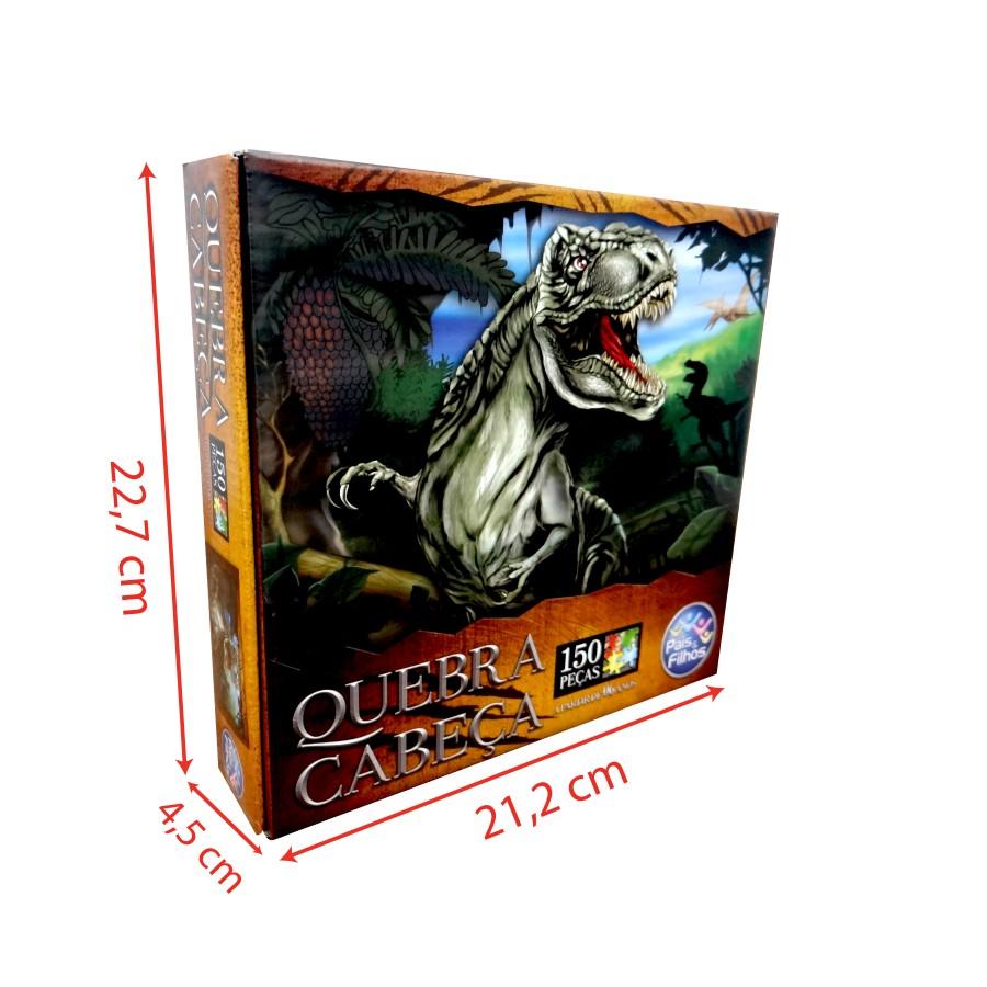 Quebra-Cabeça Dinossauro T Rex 150 peças Pais & Filhos