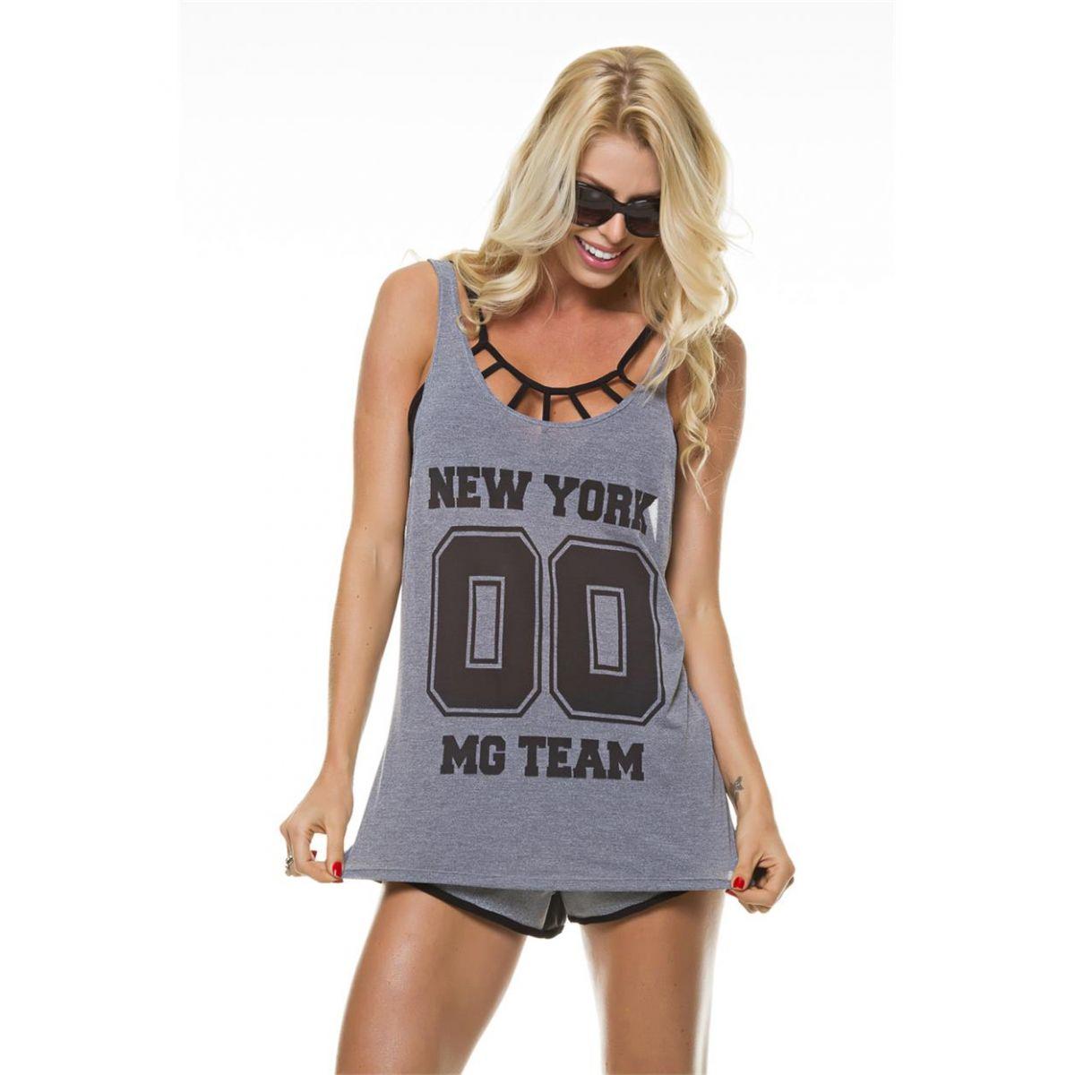 Regata New York Mescla Diva Fitness