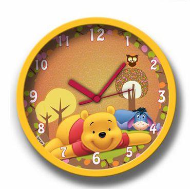 Relógio De Parede Amarelo Ursinho Pooh Gedex
