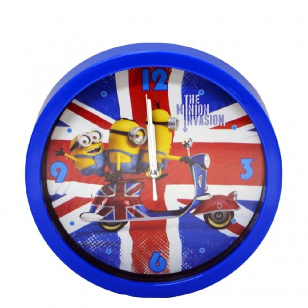 Relógio De Parede Azul Minions Mileno