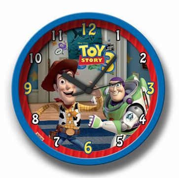 Relógio De Parede Azul Toy Story 3 Gedex