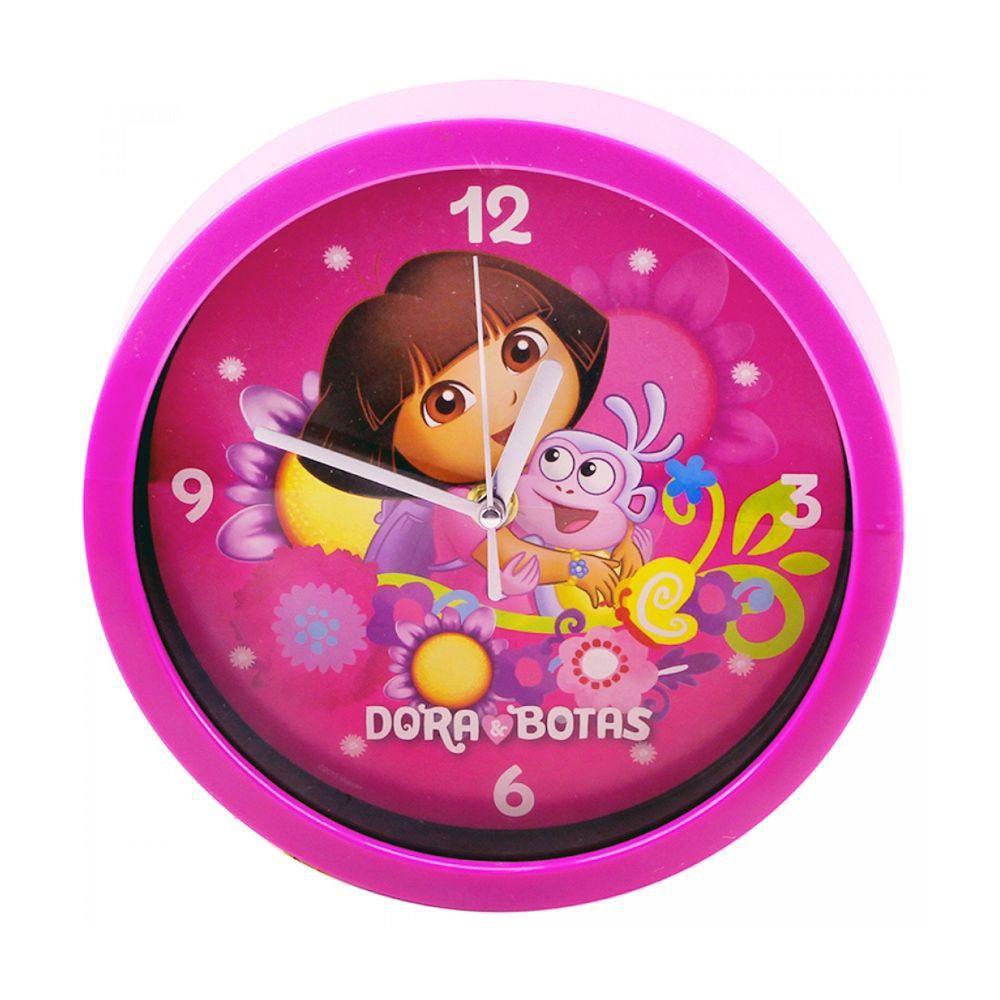 Relógio De Parede Rosa Dora Aventureira Taimes