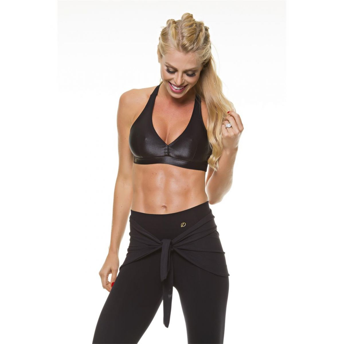 Tapa Bumbum em Tela Preto Diva Fitness
