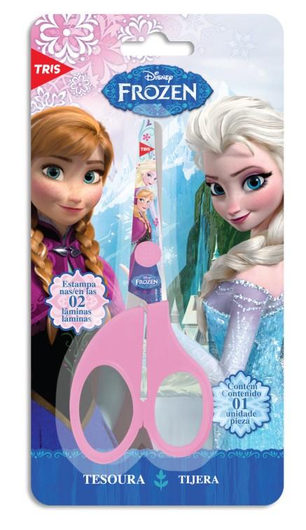 Tesoura Escolar Rosa Frozen Tris