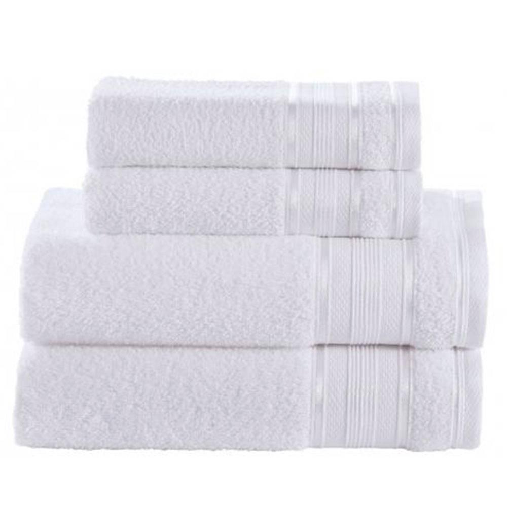Toalha de Banho Branca Linha Royal Knut 100% Algodão Santista