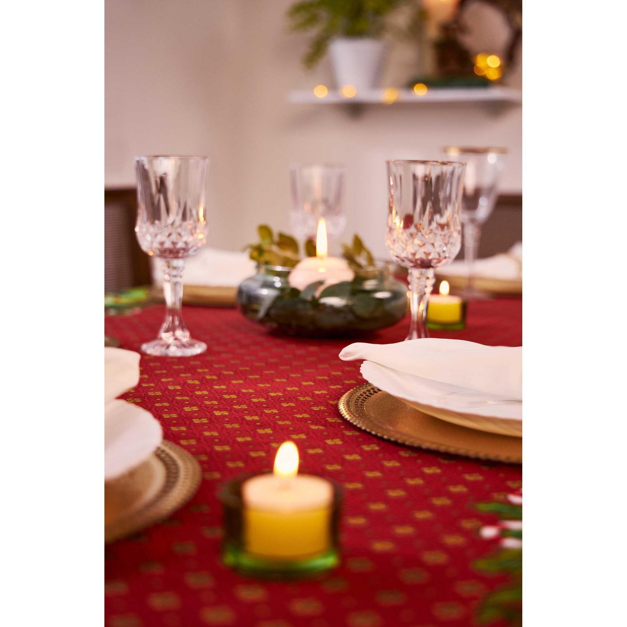 Toalha de Mesa Encanto Natal Retangular 6 Lugares 36625 Lepper