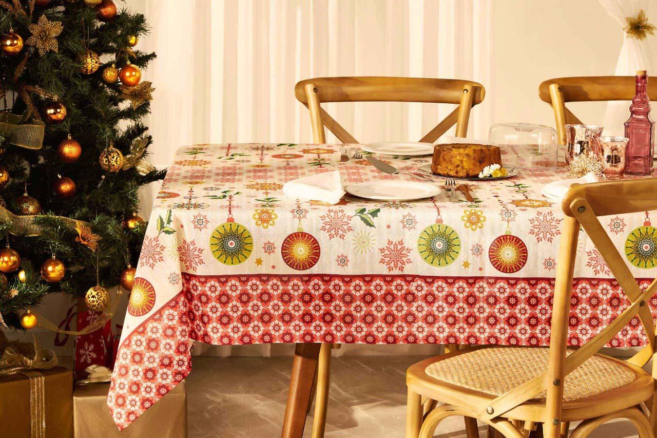Toalha de Mesa Natal Magia Quadrada 4 Lugares 36642 Lepper