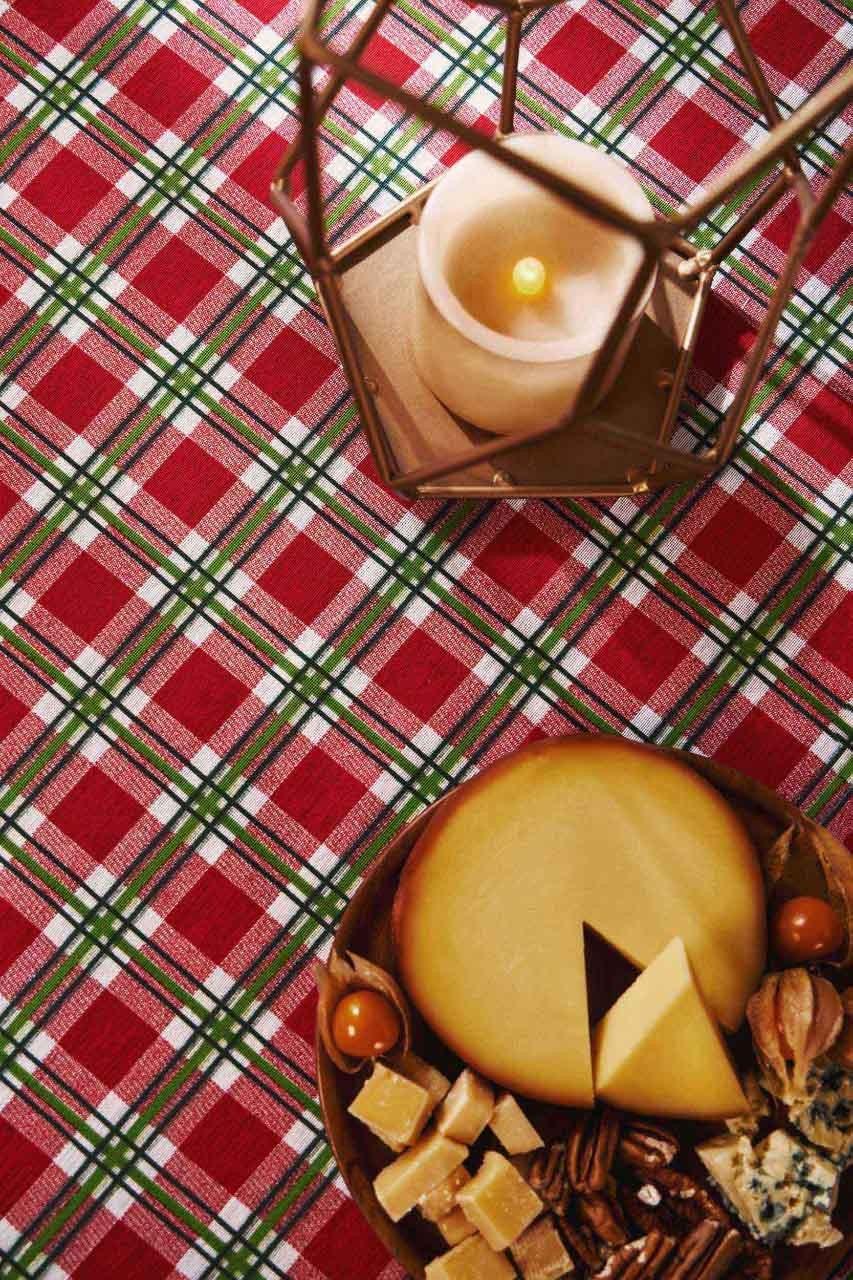 Toalha de Mesa Natal Noel Retangular 6 Lugares 36638 Lepper