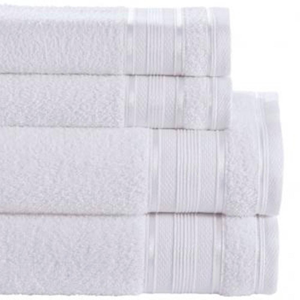 Toalha de Rosto Branca Linha Royal Knut 100% Algodão Santista