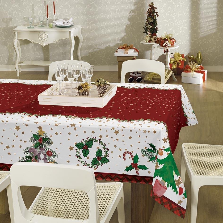 Toalha Estampada Quadrada 4 lugares Natal 036467 Lepper