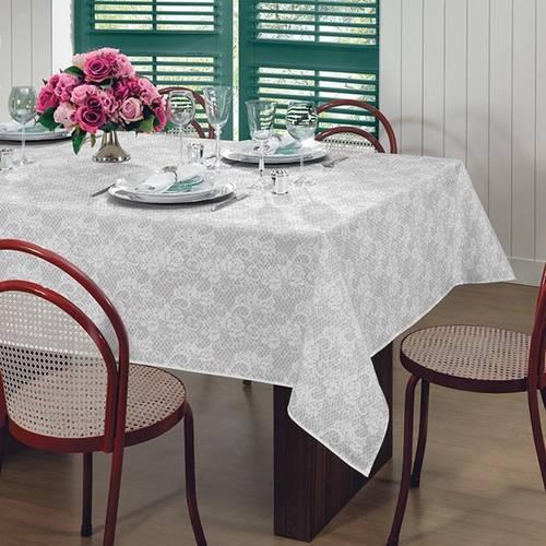 Toalha de Mesa Gardênia Elegance Retangular 6 Lugares 36460 Lepper