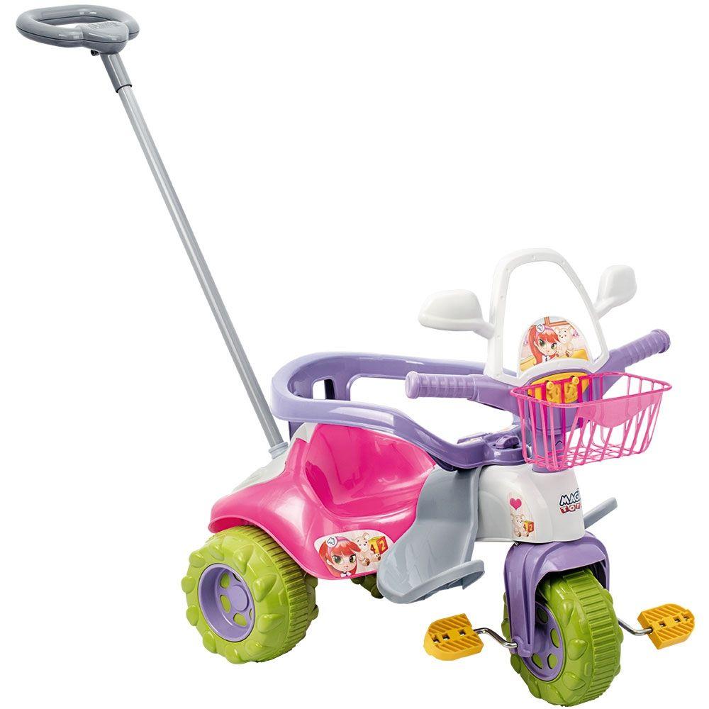 Triciclo Tico-tico Zoom Meg com Aro 2711L Magic Toys