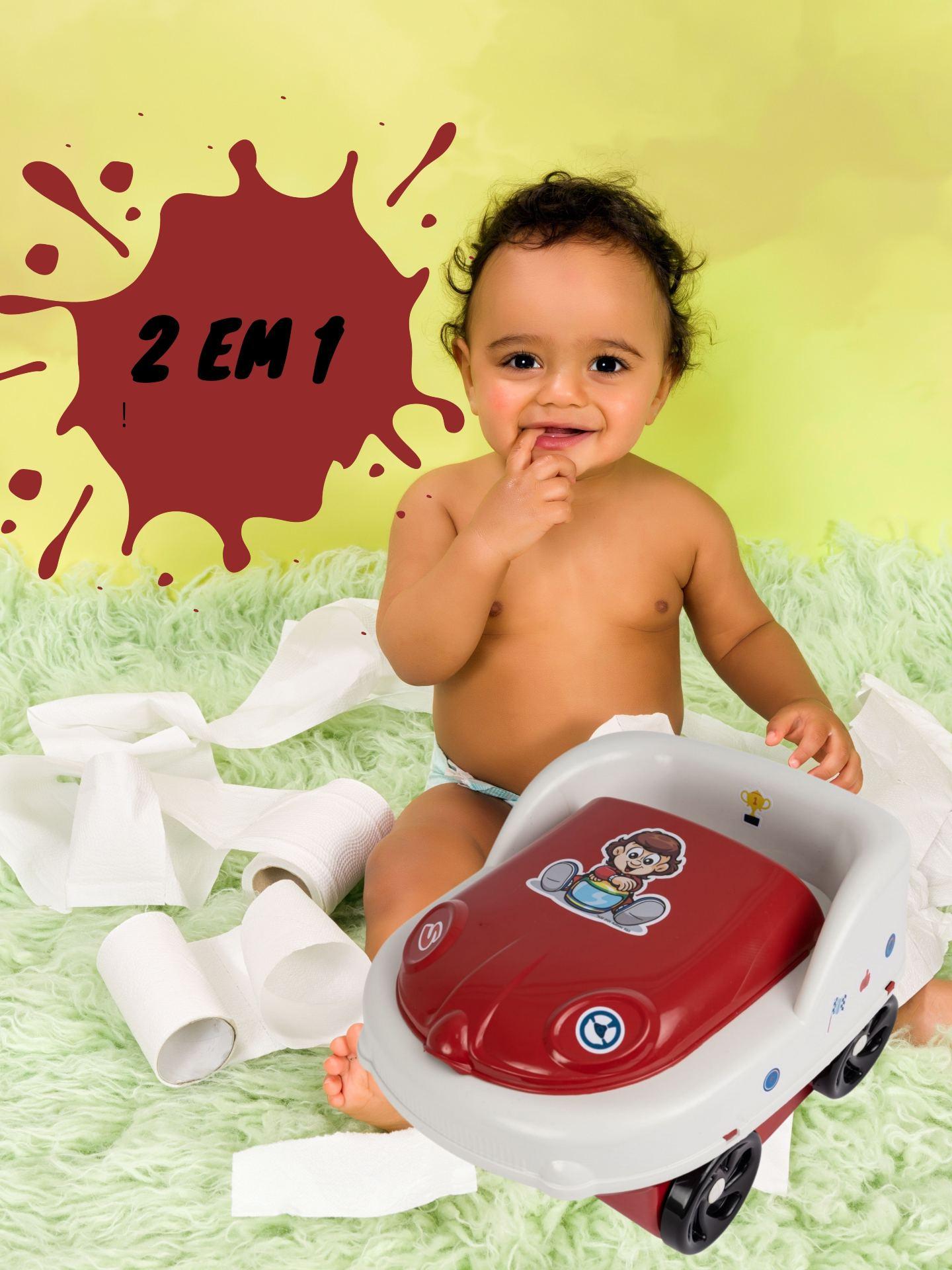Troninho Infantil com Tampa Pit Stop Senninha Styll Baby