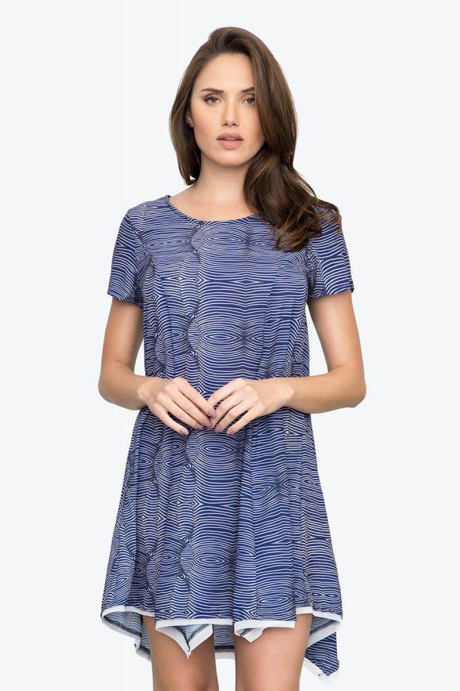 Vestido Listrado Azul Live