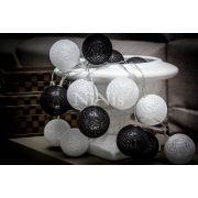 Cordão de luz Black & White - luminária decorativa 20 leds