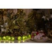 Cordão de luz Natal Verde Amazônia - adorno de guirlandas decoração festa mesa posta natalina 20 leds