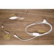Fio de luz 20 Leds  - Apenas fio e lâmpadas com conector para ligação em série - Uso em energia Bivolt