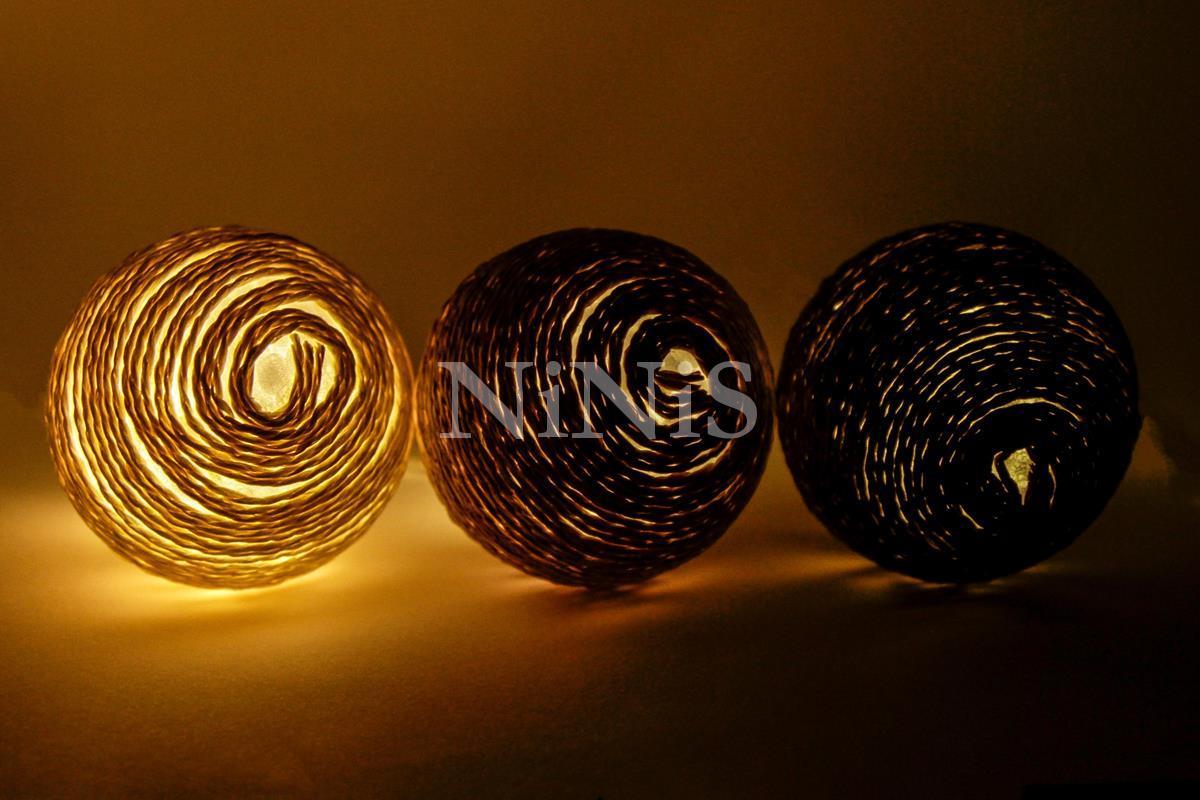 Cordão de luz de cordel SOLOS - luminária Led decorativa 20 leds