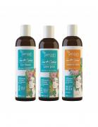 Yenzah - Sou+Cachos - Kit Forte - Cachos Tipo 3 e 4 -  Shampoo + Condicionador + Máscara Leave-in Forte
