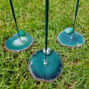 Cristal - Incensário Placa de Ágata Verde Sortido