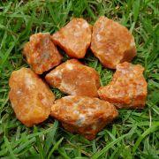 Cristal - Pedra Bruta Calcita laranja