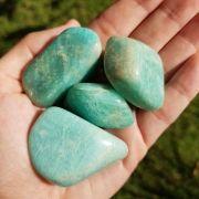 Cristal - Pedra Rolada - Amazonita (Pacote com 100g)