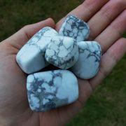 Cristal - Pedra Rolada - Howlita (Pacote com 100g)