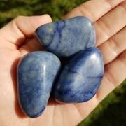 Cristal - Pedra Rolada - Quartzo Azul (Pacote com 100g)