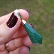Cristal - Pingente - Quartzo Verde - Equilibra e Relaxa
