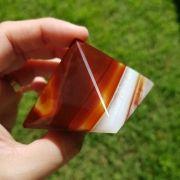Cristal - Pirâmide - Ágata Marrom