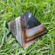 Cristal - Pirâmide - Ágata Marrom, Fumê e branca