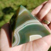 Cristal - Pirâmide de Ágata Verde