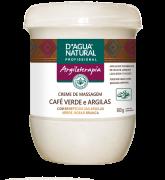 D'água Natural - Creme de Massagem Café Verde e Argilas - 650g
