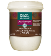 D'água Natural - Creme Esfoliante Cristais de Quartzo e Argila - 650g