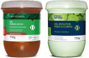 D'água Natural - Kit Gel Termo Ativo com Nicotinato de Metila 750g + Gel Redutor com Cafeína 750g
