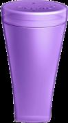 Fleurity - 2 em 1 - Porta Coletor e Esterilizador - Roxo
