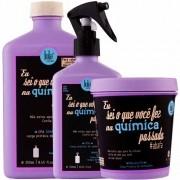 Lola Cosmetics - Kit Eu Sei O Que Você Fez Na Química Passada - CPA Shampoo 250ml + CPA Spray 250ml + CPA Máscara 230g