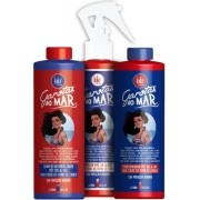 Lola Cosmetics - Kit Garotas ao Mar - Sol e Sal - Shampoo 230ml + Condicionador 230ml + Spray Protetor 230ml
