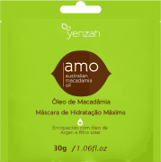Yenzah - AMO - Máscara Óleo de Macadâmia e Argan Hidratação Máxima Com Filtro Solar - Sachê - 30ml