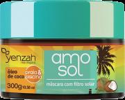 Yenzah - Máscara Ultra hidratante AMO Sol - Contém Óleo de Coco e Filtro Solar - 300g