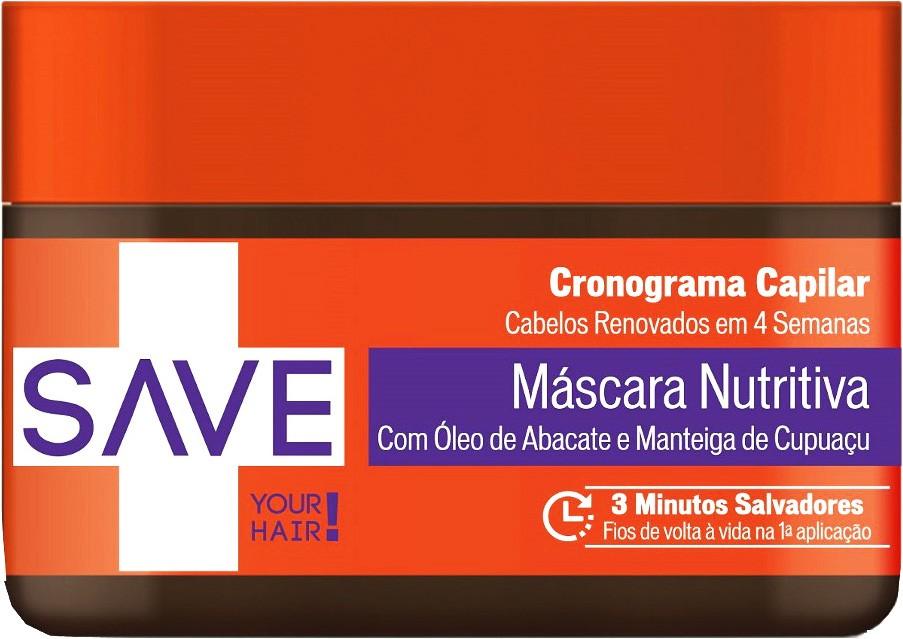 Yenzah - Save - Máscara Nutritiva Cronograma Capilar - 300g