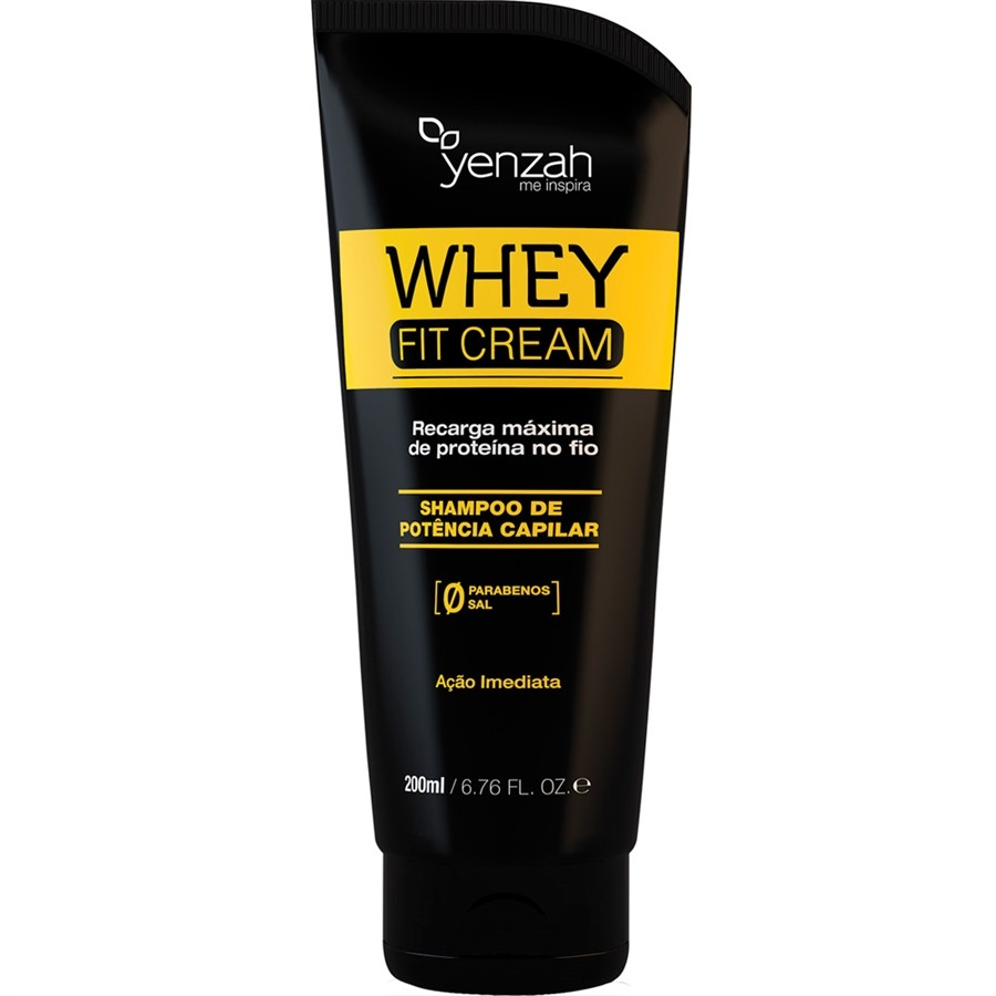 Yenzah - Shampoo Whey Fit Cream Power - Recarga de Proteína - 200ml